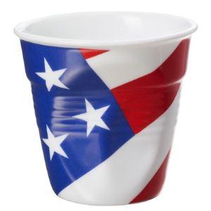 Revol 6 tasses USA expresso froissées en porcelaine