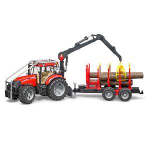 Bruder Toys 03098 - Tracteur forestier Case IH Puma 230 CVX avec remorque forestière