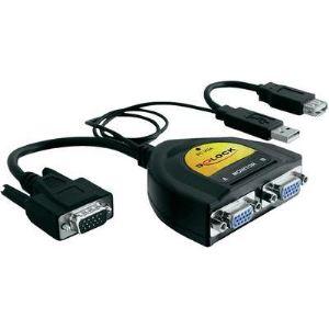 Delock 61968 - Splitter VGA 2 ports