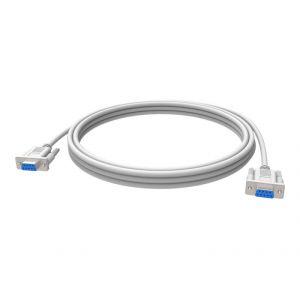 Vision TC-10MS - Câble série DB-9 (F) / DB-9 (F) 10 m blanc