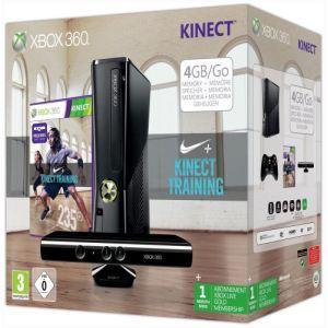 Image de Microsoft Xbox 360 Slim 4Go + Kinect + Nike + Kinect Training