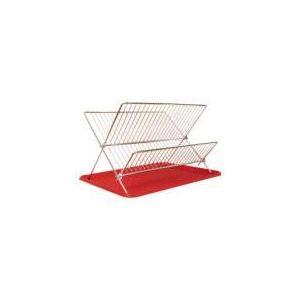 Égouttoir à vaisselle pliable en acier (28 x 32 x 43 cm)