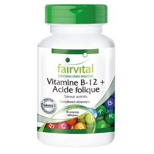 Fairvital Vitamine B12 et acide folique arôme acérola - 90 comprimés sublinguaux