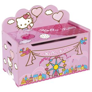 Eichhorn Coffre à jouets avec dossier Hello Kitty