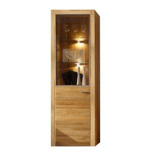 Vitrine design Malpensa avec éclairage en bois
