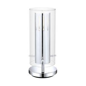 Eglo Lampe design à poser Pinto en acier et verre (28 cm) 50 W