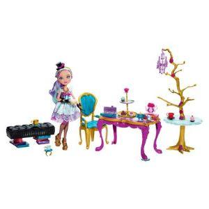 Mattel Ever After High Madeline Hatter Service à thé et gourmandises