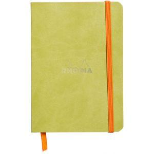 Rhodia 117306C Rhodiarama anis - Carnet souple format 10,5 x 14,8 cm, 144 pages ligné