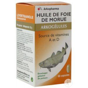 Arkopharma Arkogélules Huile de foie de morue - 60 capsules