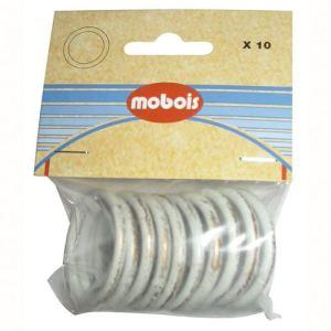 Mobois 10 anneaux pour rideaux en métal (2 cm)