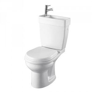Planetebain Pack WC gain de place avec lave mains intégré sortie horizontale