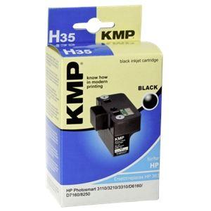 KMP H35 - Cartouche d'encre noire compatible HP 363XL