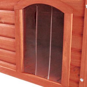 Trixie Porte en plastique pour niche Natura à toit plat 32 x 45 cm