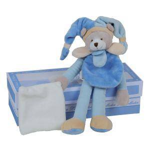 Doudou & cie Doudou Collector Ours pantin bleu poudré