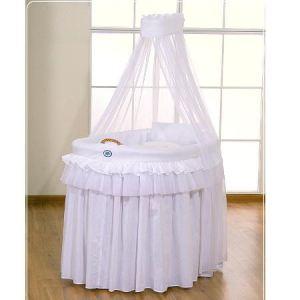 SWB Berceau en osier complet avec textile et canopy (100 x 70 cm)