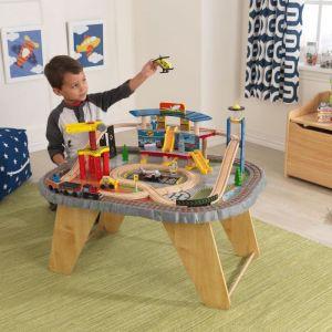 "KidKraft Table et circuit ""Station des transports"""