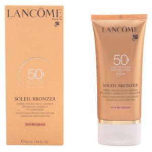 Lancôme Soleil Bronzer SPF50 - Crème protectrice lissante bronzage limineux et homogène