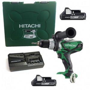 Hitachi DV18DSDL2X3AH + Coffret - Perceuse-visseuse à percussion 18V Li-Ion (2 x 3.0Ah) + Coffret de transport