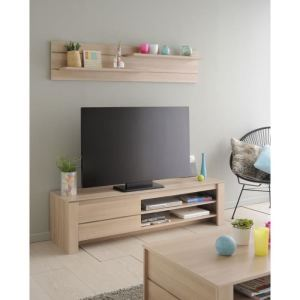 Meuble TV Lola avec 1 porte et 2 niches.
