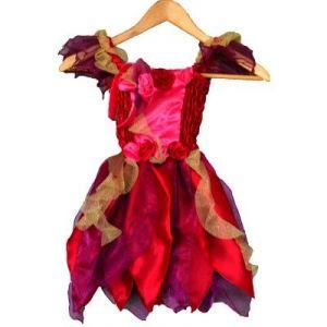 LGRI Déguisement robe féérique rouge