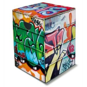 Remember Graffiti - Tabouret en carton