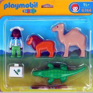 Playmobil 6744 - 1.2.3 : Vétérinaire + animaux sauvages