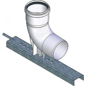 Ten 433210 - Coude PPS 87° diamètre 110mm + support + joint EPDM