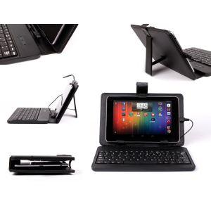 Duragadget Etui aspect cuir avec clavier, port de maintien et stylet pour Nexus 7