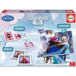 Educa Coffret 4 Jeux en 1 La reine des neiges (2 x 25 pièces)