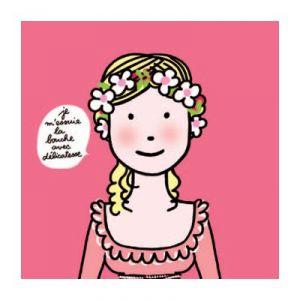 Petit Jour PC700G - Serviettes en papier Les princesses Je m'essuie la bouche avec délicatesse