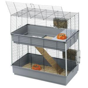 Ferplast Cage Rabbit 100 Double pour lapin (99 x 97,5 x 51,5 cm)
