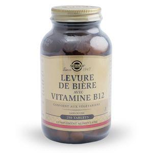 Solgar Levure de bière plus vitamine b 12 - 250 comprimés