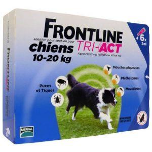 Frontline Tri-Act Chiens 10-20 Kg Boite de 6 Pipettes