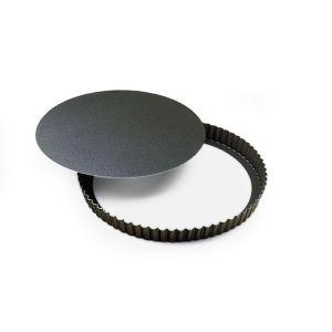 Gobel Tourtière ronde 20 cm en métal avec fond amovible