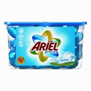 Ariel Lessive liquide Eco-Doses fraîcheur alpine 40 doses