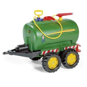 Rolly Toys Remorque tonne à lisier John Deere pour tracteur à pédales
