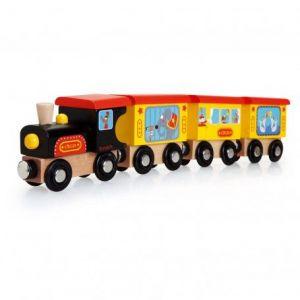 Scratch Train en bois thème cirque