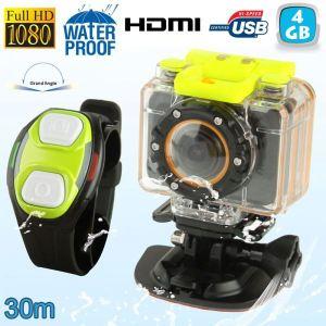 Yonis Y-cse17 - Mini caméra sport caisson bracelet télécommande waterproof 30m Full HD