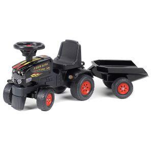 Falk Tracteur à pédales Farm King Xline 300 avec remorque