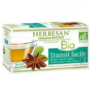 Herbesan Tisane Transit facile bio - 20 sachets