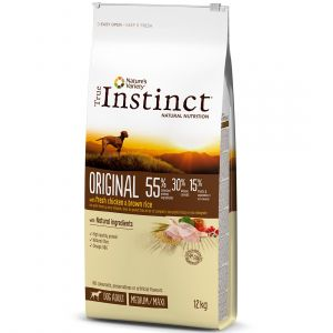 True instinct Original Medium Maxi Adult Chicken - Sac 12 kg