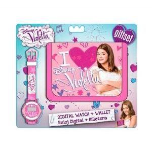WD10452 - Coffret montre digitale et porte-monnaie Disney Violetta pour fille