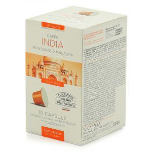 Cie Dell'Arabica 10 capsules Monsooned Malabar pour Nespresso
