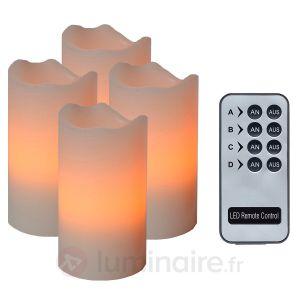 4 bougies LED avec télécommande