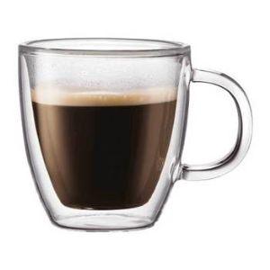 Bodum 10602-10 - 2 tasses à expresso Bistro double paroi (15 cl)