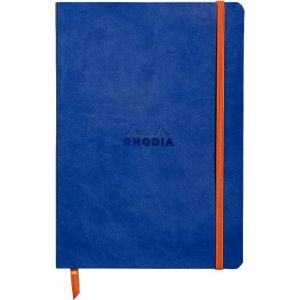 Rhodia 117408C Rhodiarama saphir - Carnet souple format 14,8 x 21 cm, 160 pages