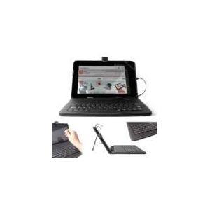 """Duragadget Etui aspect cuir avec clavier intégré et stylet pour tablette Dell Latitude 10 et XPS 10 Qualcomn 8060a 10,1"""""""