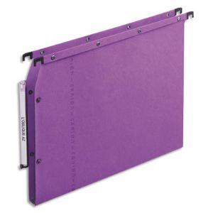 L'Oblique AZ Dossiers suspendus toniques pour amoire azv fond 15mm lilas boite de 25