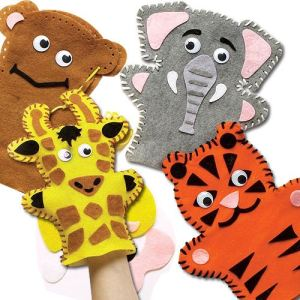 Baker Ross Kit de couture : Marionnettes animaux