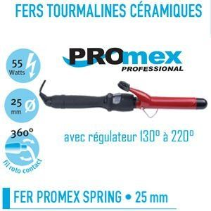 Promex 211 054 - Fer à friser Tourmaline céramique Spring 25mm